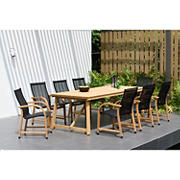 Amazonia Monique 9-Pc. Reclaimed Teak Patio Dining Set