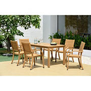 Amazonia Marlene 7-Pc. Teak Finish Patio Dining Set
