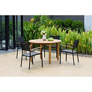 Amazonia Anette 5-Pc. Teak and Aluminum Patio Dining Set
