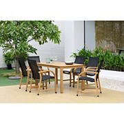 Amazonia Monique 7-Pc. Teak Finish Patio Dining Set