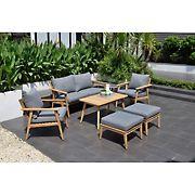 Amazonia Eva 6-Pc. Teak Patio Seating Set