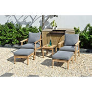 Amazonia Eva 5-Pc. Teak Patio Seating Set