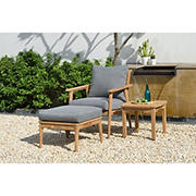 Amazonia Eva 3-Pc. Teak Patio Seating Set