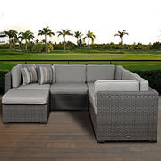 Atlantic Lifestyle Rio 6-Pc. Wicker & Aluminum Outdoor Sectional Set