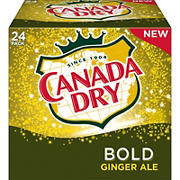 Canada Dry Bold Ginger Ale, 24 pk.