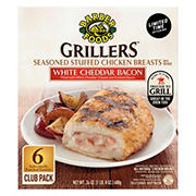 Barber Foods Grillers White Cheddar Bacon Stuffed Chicken Breast, 6 ct.
