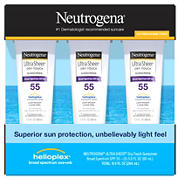 Neutrogena Ultra Sheer Dry-Touch Sunscreen Lotion, 3 ct.