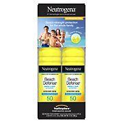 Neutrogena Beach Defense Water Sun Protection Sunscreen, 2 ct.