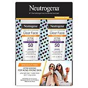 Neutrogena Clear Face Liquid Lotion Sunscreen, 2 pk.
