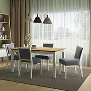 Handy Living Hendrix 5-Pc. Smart Top Dining Set with Dining Armless Chairs - Gray