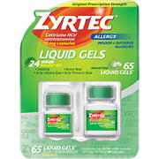 Zyrtec 24 Hour Allergy Relief Liquid Gels, 65 ct.