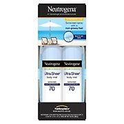 Neutrogena Ultra Sheer Body Mist Sunscreen, 2 ct.