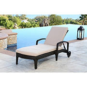 Abbyson Living Nantucket Outdoor Wicker Chaise Lounge