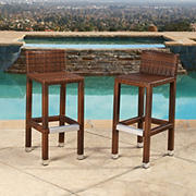 Abbyson Living Hamptons Outdoor Bar Stools, 2 pk.
