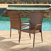Abbyson Living Hamptons Outdoor Dining Armchairs, 2 pk.