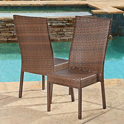 Abbyson Living Hamptons Outdoor Dining Chairs, 2 pk.