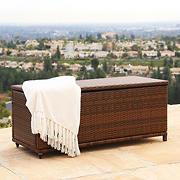 Abbyson Living Martha Outdoor Storage Ottoman - Brown
