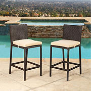 Abbyson Living Chatham Outdoor Bar Stools, 2 pk. - Espresso