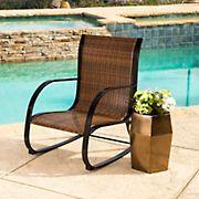 Abbyson Living Hamptons Outdoor Rocking Chair - Brown