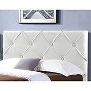 Abbyson Living Wallace King-Size Headboard - Ivory