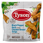 Tyson Black Pepper Herb Seasoned Chicken Breast Strips, 48 oz.