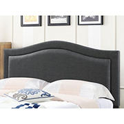 Abbyson Living Vincent Fabric Full/Queen-Size Headboard - Charcoal Gray