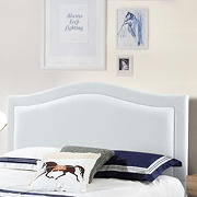 Abbyson Living Vincent Fabric Full/Queen-Size Headboard - Ivory