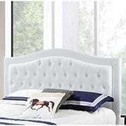 Abbyson Living Jamie Tufted King/California King-Size Headboard - Ivory