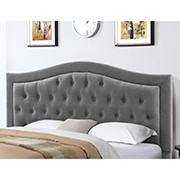 Abbyson Living Jamie Tufted Full/Queen-Size Headboard - Gray