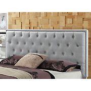 Abbyson Living Zenovia Tufted King/California King-Size Headboard - Gray