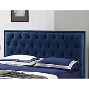 Abbyson Living Zenovia Tufted King/California King-Size Headboard - Navy Blue