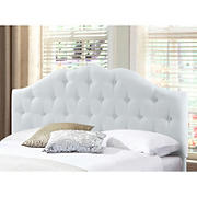 Abbyson Living Saundra Tufted King-Size Headboard - Ivory