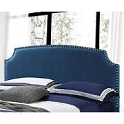 Abbyson Living Edina Fabric Full/Queen-Size Headboard - Navy Blue