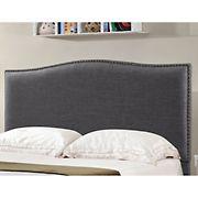 Abbyson Living Isla Fabric King/California King-Size Headboard - Charcoal Gray