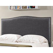 Abbyson Living Isla Fabric Full/Queen-Size Headboard - Charcoal Gray