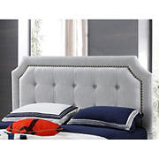Abbyson Living Ainsley Tufted Full/Queen-Size Headboard - Gray