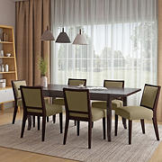 Handy Living Anniliese 7-Pc. Butterfly Leaf Dining Set with Armless Dining Chairs - Beige