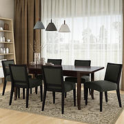 Handy Living Anniliese 7-Pc. Butterfly Leaf Dining Set with Armless Dining Chairs - Gray