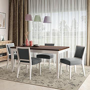 Handy Living Anniliese 5-Pc. Butterfly Leaf Dining Set with Armless Dining Chairs - Gray
