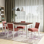 Handy Living Anniliese 5-Pc. Butterfly Leaf Dining Set with Armless Dining Chairs - Red