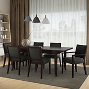 Handy Living Anniliese 7-Pc. Butterfly Leaf Dining Set with Upholstered Side Chairs - Gray