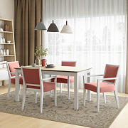 Handy Living Hendrix 5-Pc. Smart Top Dining Set with Dining Arm Chairs - Red
