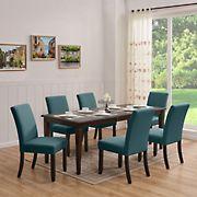 Handy Living Joslyn 7-Pc. Rectangular Dining Set with Nailhead Trim Armless Chairs - Blue