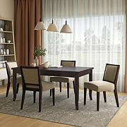 Handy Living Anniliese 5-Pc. Butterfly Leaf Dining Set with Armless Dining Chairs - Beige
