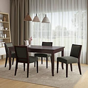 Handy Living Anniliese 5-Pc. Butterfly Leaf Dining Set with Armless Dining Chairs - Brown