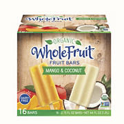 Whole Fruit Organic Coconut and Mango Fruit Bars, 16 ct.