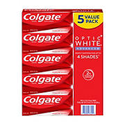 Colgate Optic White Advanced Teeth Whitening Toothpaste, 5 pk.