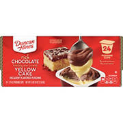 Duncan Hines Rich Chocolate Yellow Cake Pudding, 24 pk.