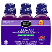 Berkley Jensen's Night Time Sleep Aid Liquid, 3 pk.