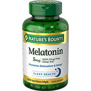 Nature's Bounty Melatonin 5 mg, 200 ct.